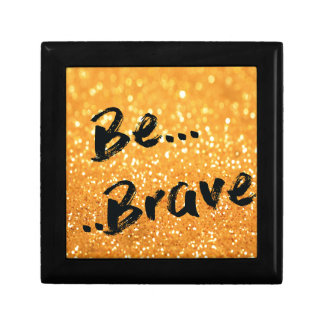 Be Brave - gold Small Square Gift Box