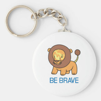 BE BRAVE BASIC ROUND BUTTON KEY RING