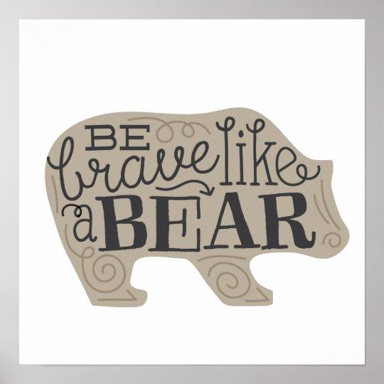 Be Brave Like a Bear - Children's Art