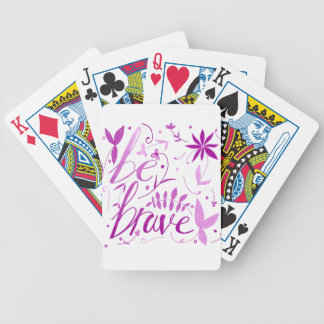 be brave pink poker deck