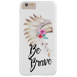 Be Brave With A Watercolor Indian Headdress Barely There iPhone 6 Plus Case