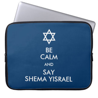 Be Calm And Say Shema Yisrael Laptop Computer Sleeves