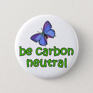 Be Carbon Neutral 6 Cm Round Badge