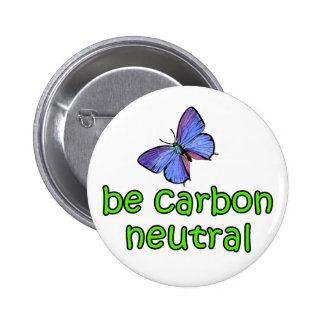 Be Carbon Neutral 6 Cm Round Badge