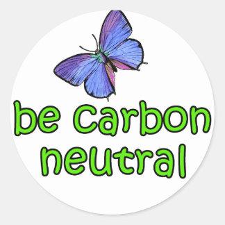Be Carbon Neutral Round Sticker