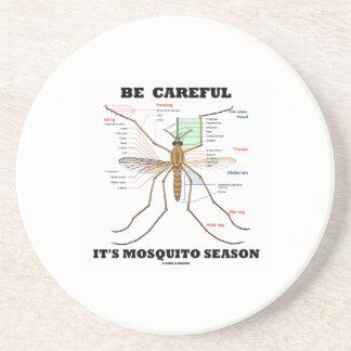 Be Careful It's Mosquito Season (Mosquito Anatomy) Coaster