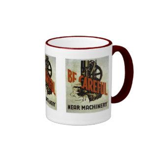 Be Careful Near Machinery - WPA Poster - Mugs