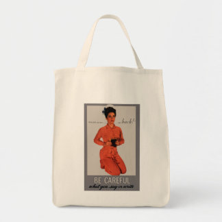 Be Careful What You Say and Write Grocery Tote Bag