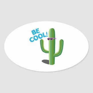 Be Cool Oval Sticker
