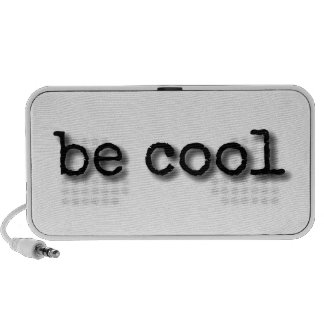 Be cool text design portable speaker