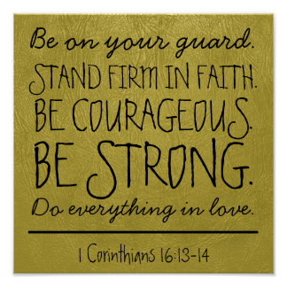 Be courageous and strong bible verse Poster