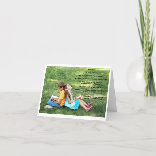"""""""Be Creative"""" affirmation note card (blank)"""