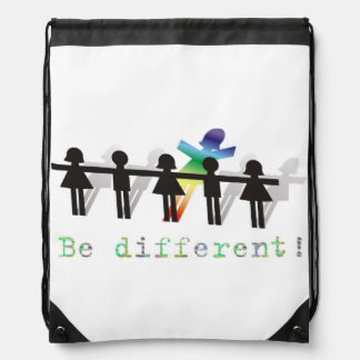 Be different! drawstring bag