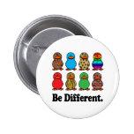 Be Different Ducks 6 Cm Round Badge