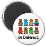 Be Different Ducks 6 Cm Round Magnet