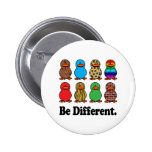 Be Different Ducks Pinback Button