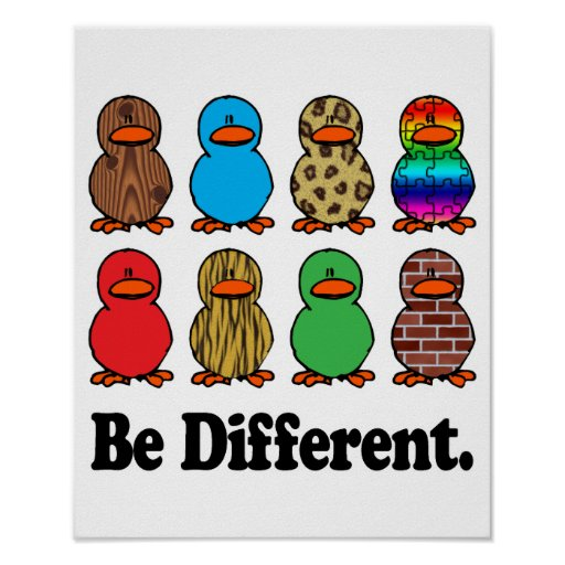 Be Different Ducks Print