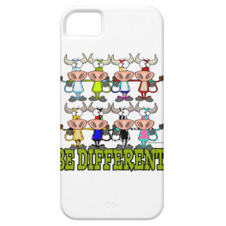 BE DIFFERENT funny funky cows iPhone 5 Covers