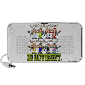 BE DIFFERENT funny funky cows Mp3 Speaker