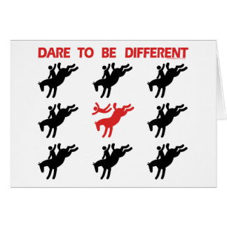 Be Different - Funny Horse Saying Greeting Card