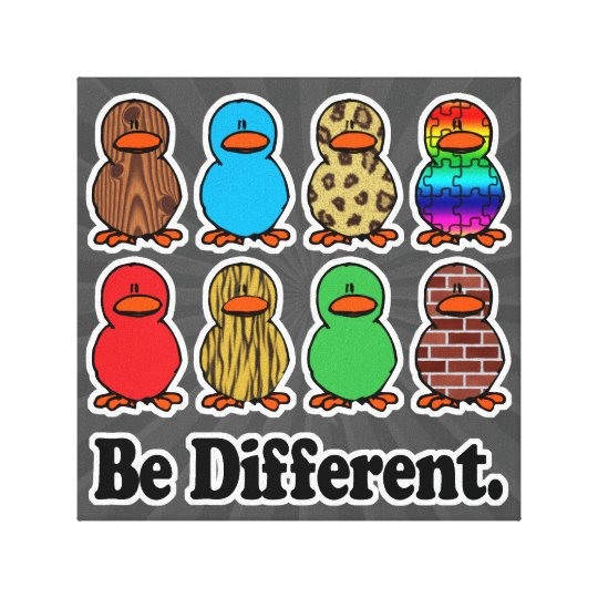 be different funny pattern ducky ducks canvas print