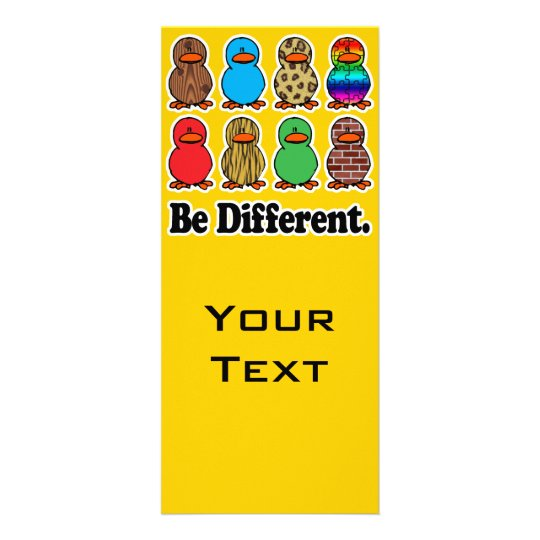 be different funny pattern ducky ducks rack card template