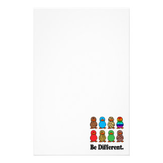 be different funny pattern ducky ducks stationery design