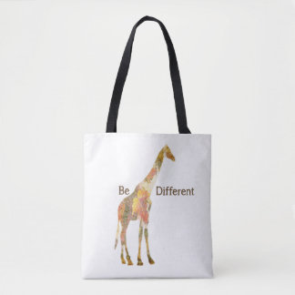 Be Different Giraffe Tote Bag