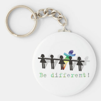 Be different! key ring