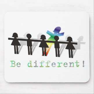 Be different! mouse mat
