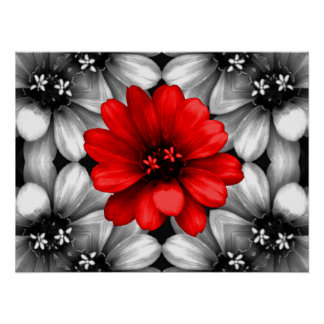 Be Different Red Flower Poster