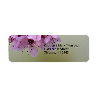 Be Drawn By What You Love Cherry Blossom Return Address Label