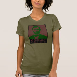 Be Excellent pink green T-shirt