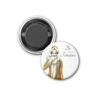 Be Fabulous Vintage Ackerman Lady 3 Cm Round Magnet