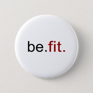 be fit 6 cm round badge