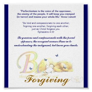 Be Forgiving-Customize Poster