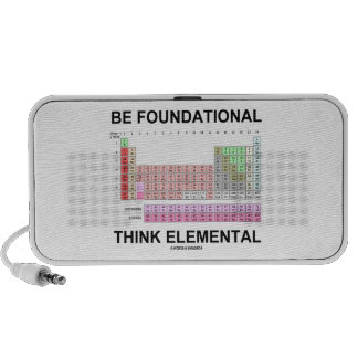Be Foundational Think Elemental (Periodic Table) Portable Speaker