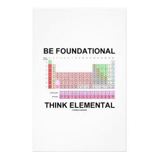 Be Foundational Think Elemental (Periodic Table) Customised Stationery