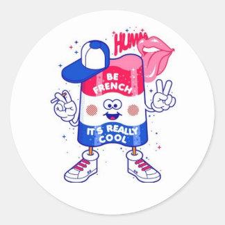 Be French Round Sticker
