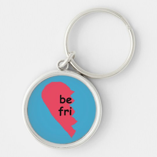 BE FRI keychain half
