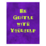 Be gentle with yourself poster