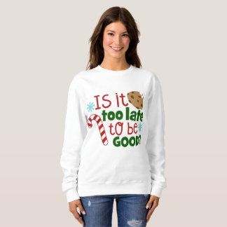 Be good Christmas word art sweatshirt