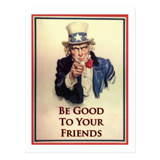 Be Good Uncle Sam Poster Postcard