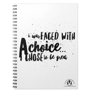 'Be Great' Exclusive Merchandise Notebooks