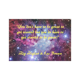Be Great - Motivational Quote, Wall Canvas Art