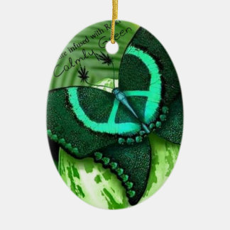 Be Green Ceramic Oval Decoration