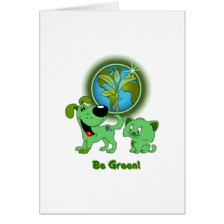 Be Green Leaf and Blade Card