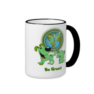 Be Green! (Leaf and Blade) Ringer Mug