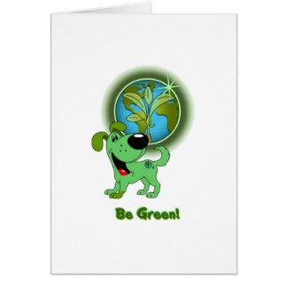 Be Green Leaf Card