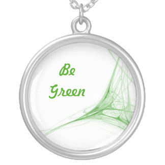 Be Green Round Pendant Necklace